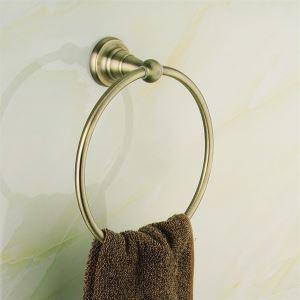 (EU Lager) Antike Bronze Runde Handtuchring