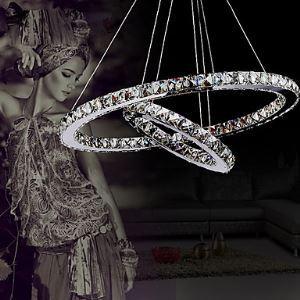 Kristall Pendelleuchte Modern Luxus Zwei Ringen