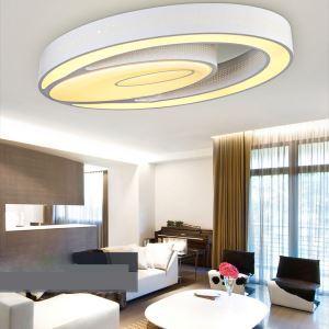 (EU Lager) LED Deckenleuchte Modern aus Acryl Oval Weiß im Schlafzimmer