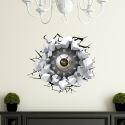 3D Wanduhr Modern Lautlos Augen Design