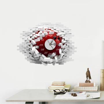 3D Wanduhr Modern Wandloch Design Lautlos