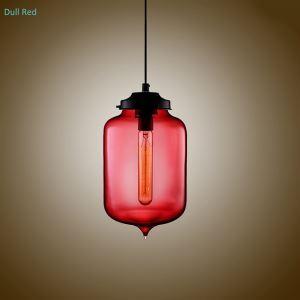 Glas Pendelleuchte Modern in Flaschen Design im Esszimmer