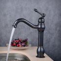 Waschtischarmatur Einhandmischer in Schwarz für Badezimmer