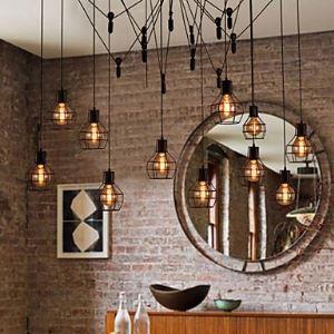 Design Pendelleuchte im Landhausstil 12-flammig im Wohnzimmer
