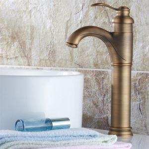 (EU Lager)Waschtischarmatur Einhebelmischer aus Messing Retro für Badezimmer