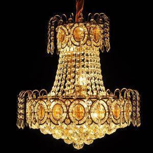 Pendelleuchte Kristall Modern Gold 8 flammig im Wohnzimmer