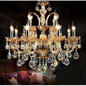 (EU Lager)Prachvoller Kronleuchter Kristall Modern Design 12-flammig