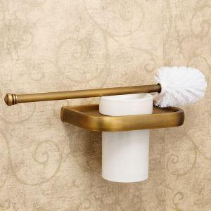 (EU Lager)WC-Bürstenhalter Antik Messing Bad Accessoires