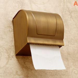 (EU Lager)WC Rollenhalter Antik Messing Bad Accessoires