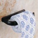 WC-Papierhalter Antik Messing Bad Accessoires Schwarz