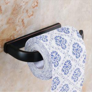 (EU Lager)WC-Papierhalter Antik Messing Bad Accessoires Schwarz