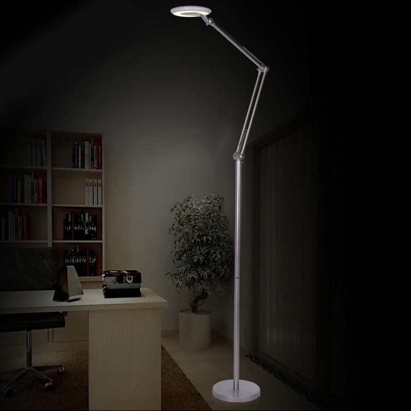 Ausverkauft - (EU Lager)Stehlampe Modern Design Silber im Wohnzimmer  Lesezimmer