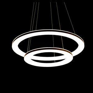 (EU Lager)Led Pendelleuchte aus 2 Polyester Ring im Wohnzimmer Schlafzimmer
