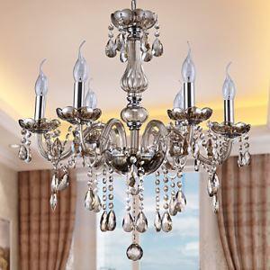 Kristall Kronleuchter Modern 6-flammig für Wohnzimmer